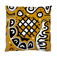 Yellow High Art Abstraction Standard Cushion Case (one Side) by Valentinaart