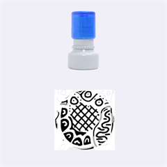 Yellow High Art Abstraction Rubber Round Stamps (small) by Valentinaart