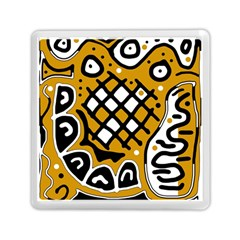 Yellow High Art Abstraction Memory Card Reader (square)  by Valentinaart