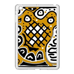 Yellow High Art Abstraction Apple Ipad Mini Case (white) by Valentinaart