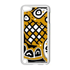 Yellow High Art Abstraction Apple Ipod Touch 5 Case (white) by Valentinaart