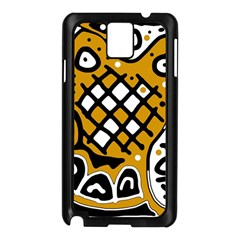 Yellow High Art Abstraction Samsung Galaxy Note 3 N9005 Case (black) by Valentinaart