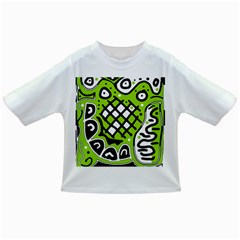 Green High Art Abstraction Infant/toddler T Shirts by Valentinaart