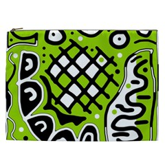 Green High Art Abstraction Cosmetic Bag (xxl)  by Valentinaart