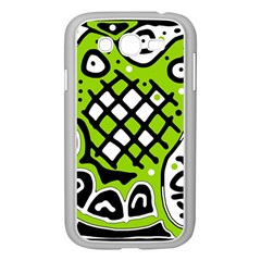 Green High Art Abstraction Samsung Galaxy Grand Duos I9082 Case (white) by Valentinaart