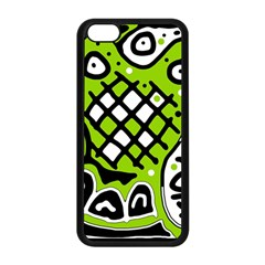 Green High Art Abstraction Apple Iphone 5c Seamless Case (black) by Valentinaart