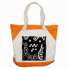 Black And White High Art Abstraction Accent Tote Bag by Valentinaart