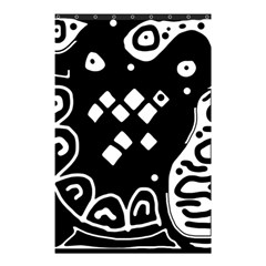 Black And White High Art Abstraction Shower Curtain 48  X 72  (small)  by Valentinaart