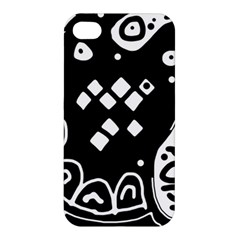 Black And White High Art Abstraction Apple Iphone 4/4s Hardshell Case by Valentinaart