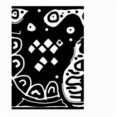 Black And White High Art Abstraction Large Garden Flag (two Sides) by Valentinaart