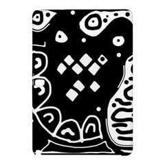 Black And White High Art Abstraction Samsung Galaxy Tab Pro 12 2 Hardshell Case by Valentinaart