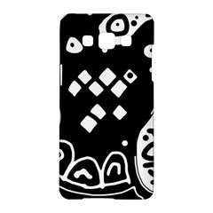 Black And White High Art Abstraction Samsung Galaxy A5 Hardshell Case  by Valentinaart
