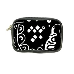 Black And White High Art Abstraction Coin Purse by Valentinaart