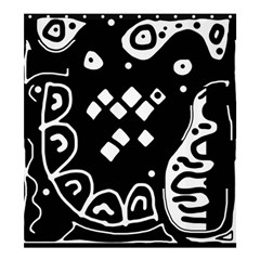 Black And White High Art Abstraction Shower Curtain 66  X 72  (large)  by Valentinaart