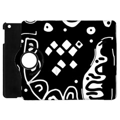 Black And White High Art Abstraction Apple Ipad Mini Flip 360 Case by Valentinaart