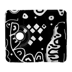 Black And White High Art Abstraction Samsung Galaxy S  Iii Flip 360 Case by Valentinaart