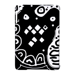 Black And White High Art Abstraction Apple Ipad Mini Hardshell Case (compatible With Smart Cover) by Valentinaart