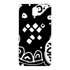 Black And White High Art Abstraction Samsung Galaxy Note 3 N9005 Hardshell Back Case by Valentinaart