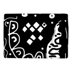 Black And White High Art Abstraction Samsung Galaxy Tab Pro 10 1  Flip Case by Valentinaart