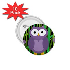 Purple Owl 1 75  Buttons (10 Pack) by Valentinaart