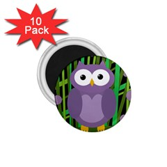 Purple Owl 1 75  Magnets (10 Pack)  by Valentinaart