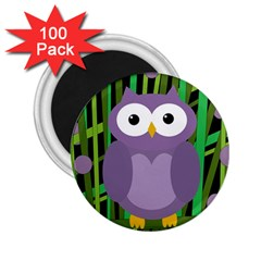 Purple Owl 2 25  Magnets (100 Pack)  by Valentinaart