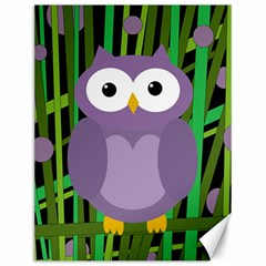 Purple Owl Canvas 12  X 16   by Valentinaart