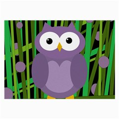 Purple Owl Large Glasses Cloth (2 Side) by Valentinaart