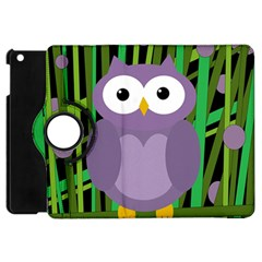 Purple Owl Apple Ipad Mini Flip 360 Case by Valentinaart