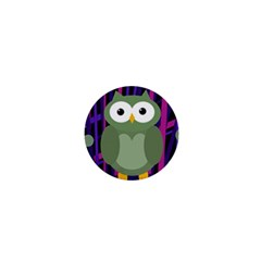 Green And Purple Owl 1  Mini Magnets by Valentinaart