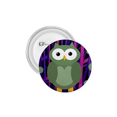 Green And Purple Owl 1 75  Buttons by Valentinaart