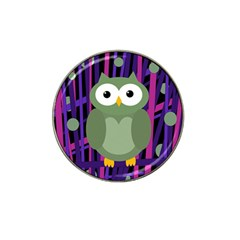 Green And Purple Owl Hat Clip Ball Marker by Valentinaart