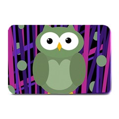 Green And Purple Owl Plate Mats by Valentinaart