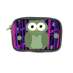 Green And Purple Owl Coin Purse by Valentinaart