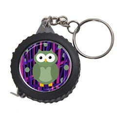 Green And Purple Owl Measuring Tapes by Valentinaart