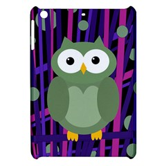 Green And Purple Owl Apple Ipad Mini Hardshell Case by Valentinaart