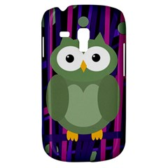 Green And Purple Owl Samsung Galaxy S3 Mini I8190 Hardshell Case by Valentinaart
