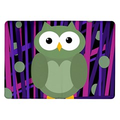 Green And Purple Owl Samsung Galaxy Tab 10 1  P7500 Flip Case by Valentinaart