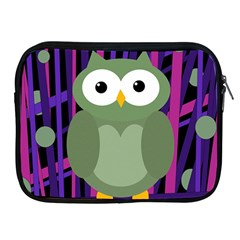 Green And Purple Owl Apple Ipad 2/3/4 Zipper Cases by Valentinaart