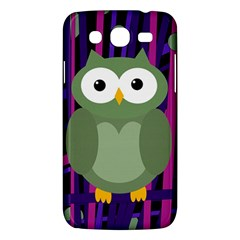 Green And Purple Owl Samsung Galaxy Mega 5 8 I9152 Hardshell Case  by Valentinaart