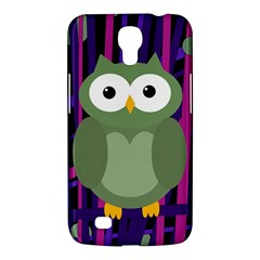 Green And Purple Owl Samsung Galaxy Mega 6 3  I9200 Hardshell Case by Valentinaart