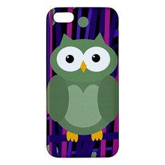 Green And Purple Owl Iphone 5s/ Se Premium Hardshell Case by Valentinaart