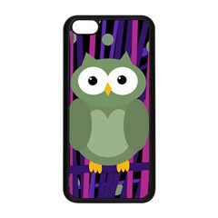 Green And Purple Owl Apple Iphone 5c Seamless Case (black) by Valentinaart