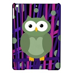 Green And Purple Owl Ipad Air Hardshell Cases by Valentinaart