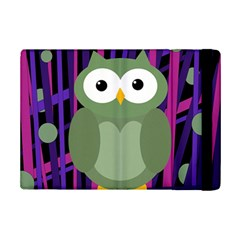 Green And Purple Owl Ipad Mini 2 Flip Cases by Valentinaart