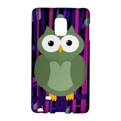Green And Purple Owl Galaxy Note Edge by Valentinaart