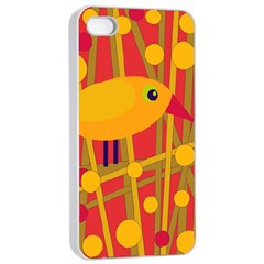 Yellow Bird Apple Iphone 4/4s Seamless Case (white) by Valentinaart