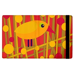 Yellow Bird Apple Ipad 2 Flip Case by Valentinaart