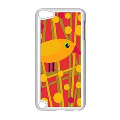 Yellow Bird Apple Ipod Touch 5 Case (white) by Valentinaart