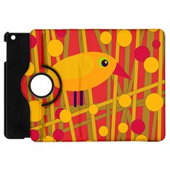 Yellow Bird Apple Ipad Mini Flip 360 Case by Valentinaart